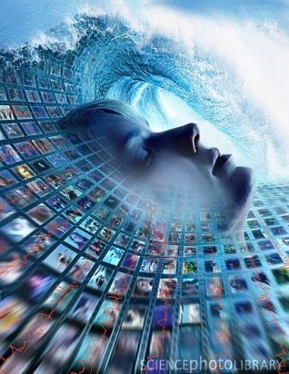 Information overload, conceptual image